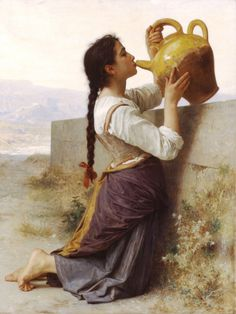 "One of the realist paintings of William Adolphe Bouguereau called ""Thirst"" #oil #painting #paintings"