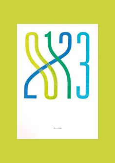 printmaking | Tumblr #numbers #printmaking #letterforms #typography