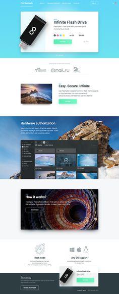 Infinite Flash Drive - website design