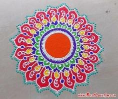 Small Free Hand Rangoli Design Picture