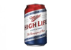 Miller High Life Veterans Can #beer #can #label #packaging