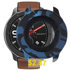 TAMISTER #Soft #Smart #Watch #Dial #Silicone #Protective #Case #Full-protection #Frame #Cover #for #Amazfit #GTR #47mm #- #NAVY #CAMOUFLAGE