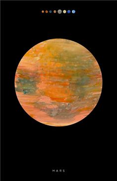 tumblr_m710fmky7d1r95agto1_1280.jpg (792×1224) #texture #space #mars #paint #poster #outer #planet