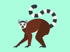 I like to move it...move it. #geometric #monkey #iconic #illustration #animal