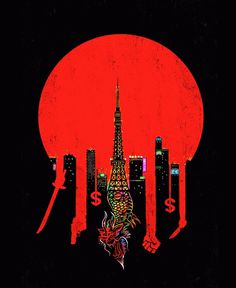 ce9c70fe270fb752a69731b5e8ec8c09.gif (GIF Image, 600 × 733 pixels) #paris #dragon #skyscrapers #red #circle #money #crime
