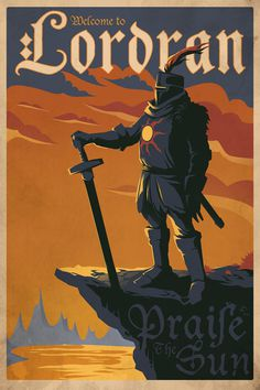 Dark Souls Solaire of Astora 24x36 Print Travel Poster - Colors