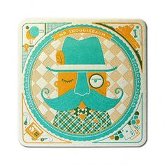 Mr. Snogglebaum Coaster - Front | Flickr - Photo Sharing! #pressman #illustration #letterpress #cranky