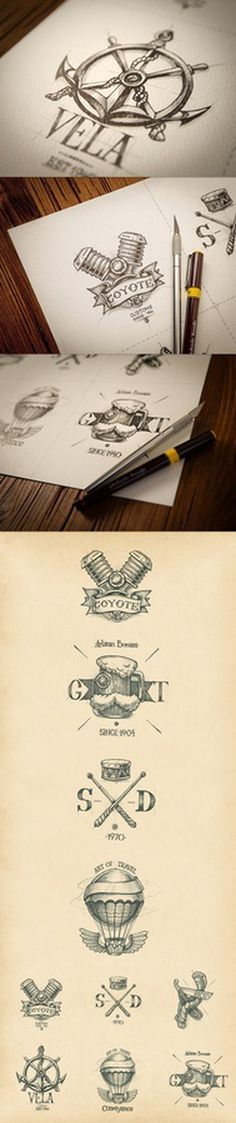 Logo illustrations by Mike | Creative Mints #inspiration #design #graphic #illustration #identity #art
