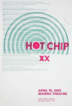 Hot Chip Concert Poster - Jaclyn Co #hot #chip #concert #poster