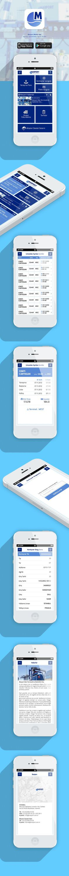 Marport Mobile Application IOS &Android on Behance