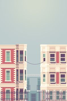 La Telephone Justin Mezzell #mezzell #justin #illustration #la #telephone #buildings