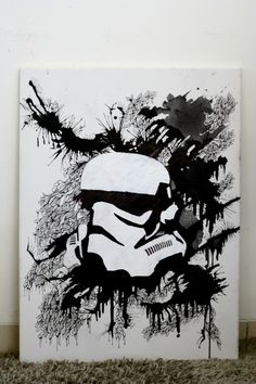 IMG_1860 #white #& #black #illustration #starwars #stormtroopers