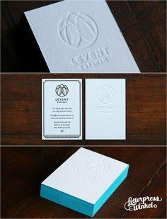 Blind letterpress Business card with edge color by Letterpress Winkel