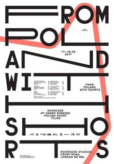 from poland with shorts : portfolio #type #poster