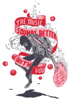 The music sounds better with you on Behance #poster