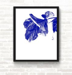 Fleur — Screen Print #Indigo #poster #screenprint #art #studiojanuary
