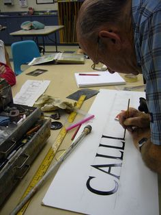 Sign Painter Stanley Czajka #calligraphy #lettering #sign #czajka #painter #stan