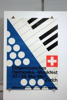 All sizes | Harmonika-Musikfest 1967 | Flickr - Photo Sharing! #beauty #swiss #design #graphic #poster #typography