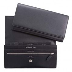 Marshall Travel Wallet in Black, Arlington Collection, Travel, Smythson #wallet #marshall #smythson #in #travel #black