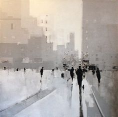 The Fox Is Black » The Paintings of Geoffrey Johnson #paintings #white #art #landscapes