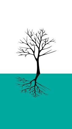 Tree print #tree #print #design #clean #nature #blue