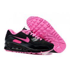 Nike Air Max 90 Black Black Em Online Rosa