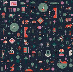 Lotta Nieminen | Lagom #illustration #collage #pattern #vector