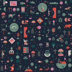 Lotta Nieminen | Lagom #collage #pattern #illustration #vector
