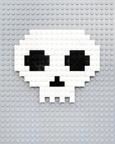 Lego // 8 bit ghosts, eyes & skulls!, by Mini eco #skull #lego