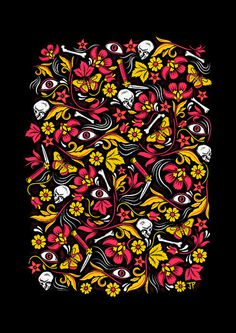 Justin Poulter Illustrationhttp://www.behance.net/justinpoulter #poulter #justin #pattern