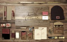Farewell Co. on Behance #logo #leather #wallet