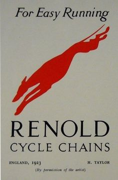 L'affichiste - Original 1923 Mini Poster Renold Cycle Chain - Taylor #simple #1923 #poster