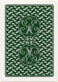 Erdnase-Acorn-Green-Back.jpg 753×1050 pixels #card #illustration #pattern #playing