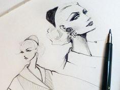 Dribbble - New Sketchbook by Melissa Brunet #melissa #brunet #illustration #pen #fashion