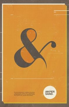 Adrenonline / Posters #ampersand #illustration #orange #poster