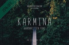 Karmina is a handwritten font designed by ArtCoast Design Agency. We wanted to create the most generic, readable and balanced handwritten fo #hand #dr