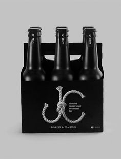JC dark lager on the Behance Network #beer #tomatdesign #design #black #package