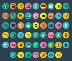 Free Flat Vector Icon Set #icon