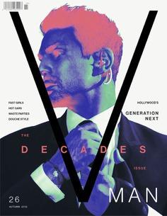 V Man Decades Poster Design