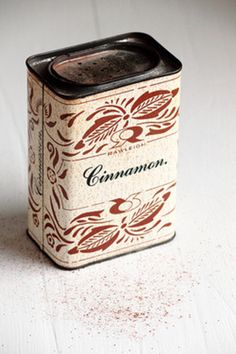 a paper aeroplane #package #can #cinnamon