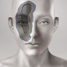 Art   Tumblr #face #eye #layers #photomanipulation