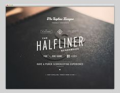 Halfliner | Web Design #typography #vintage #website #web design