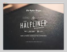 Halfliner | Web Design #typography #vintage #website #web design