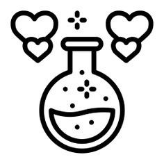 See more icon inspiration related to potion, love, love potion, love and romance, valentines day, romantic, flask, chemical, chemistry and heart on Flaticon.