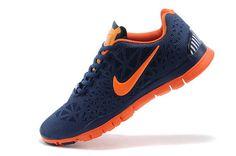 Mens Nike Free Shoes Tr Fit 3 Breathe Dark Blue Orange Special