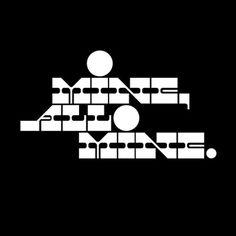 Benjamin Hennessy #logo #identity #black and white #slab serif #mine all mine