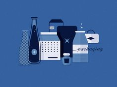 Blue Packaging #illustration