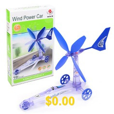 Science #Technology #Small #Production #Children's #Educational #Experimental #Wind #Energy #Power #Car #Toys #- #249 #ENGLISH #COLOR #BOX #48 #253 #GRAMS
