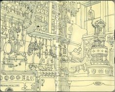 Moleskine Sketches by Mattias Adolfsson | Best Bookmarks #bakery #moleskine #sketch
