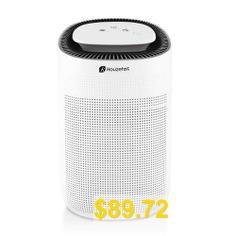 Houzetek #Q7 #Desktop #Air #Purifying #Dehumidifier #with #HEPA #Filter #- #WHITE